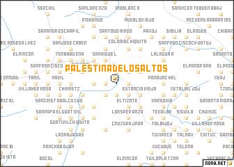 Palestina De Los Altos Guatemala Map