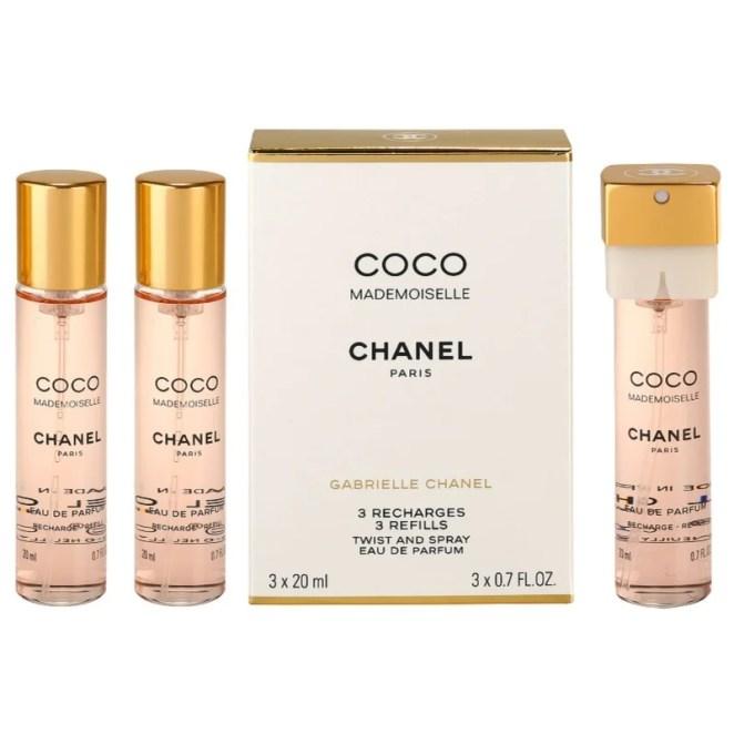Chanel Coco Mademoiselle parfémovaná voda (3 x náplň) pro ženy 3x20 ml