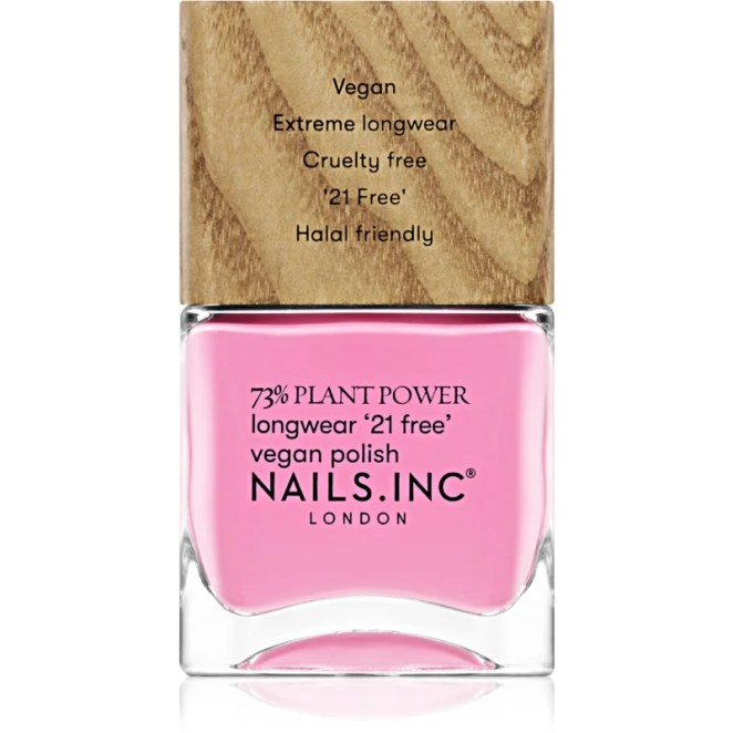 Nails Inc. Vegan Nail Polish dlouhotrvající lak na nehty odstín Detox On Repeat 14 ml