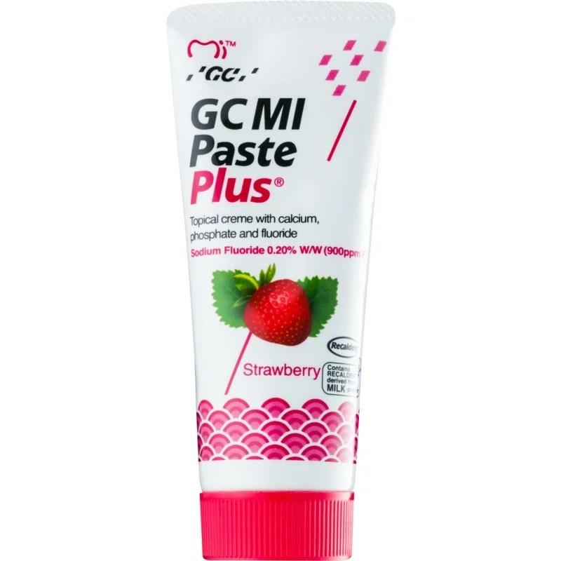 GC MI Paste Plus Strawberry. Protective Remineralising Cream for Sensitive Teeth With Fluoride | notino.co.uk