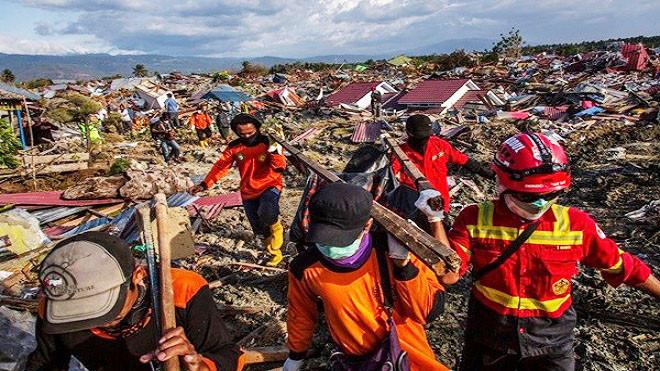 印尼強震海嘯已奪1558人命 近20萬人需人道援助 | 聯合國 | 救援 | 新唐人中文電視臺在線