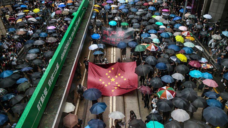 組圖:8.31為香港罪人祈禱游行 警方出動兩輛水炮車   831反送中   831決議   真普選   新唐人中文電視臺在線