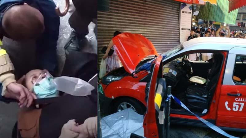 中共公開犒賞車撞示威者司機52萬 震驚香港   中共恐怖組織   肇事司機   開車撞人   新唐人中文電視臺在線