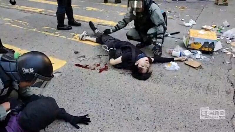 港警今早連開3槍傷2人 防暴警槍指民眾多區抓捕 | 香港反送中 | 祕密特工 | 催淚彈 | 新唐人中文電視臺在線