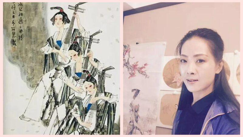 青海美協女主席抄襲作品曝光 網友:這分明是複印 | 王筱麗 | 抄襲畫作 | 馬寒松 | 新唐人中文電視臺在線