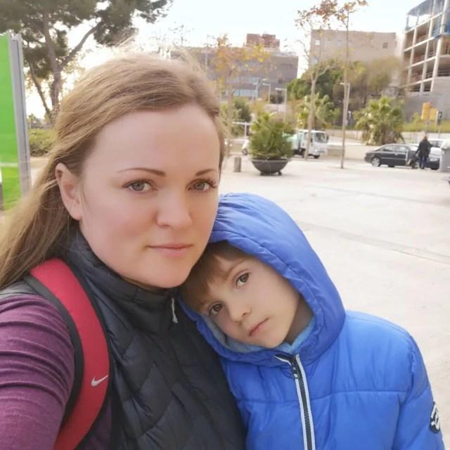Мама Людмила с Димой
