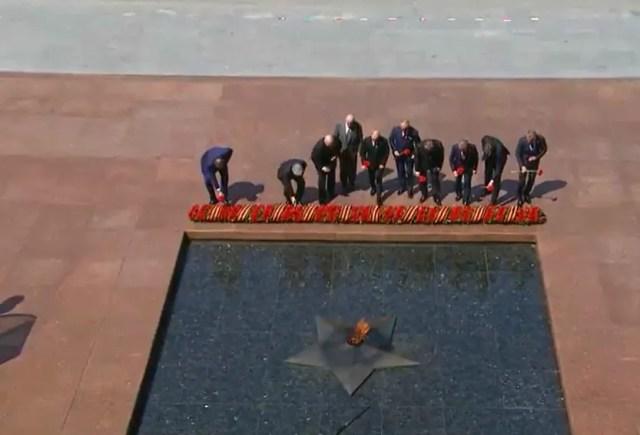 Лидеры приглашенных иностранных государств на параде в Москве