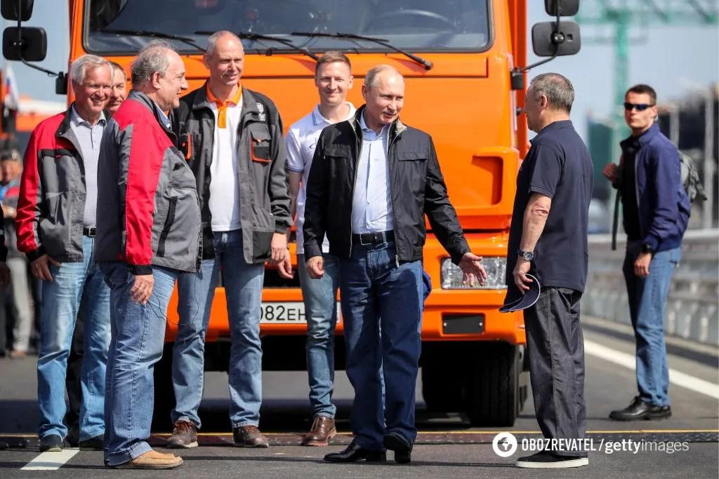 Володимир Путін на Кримському мосту
