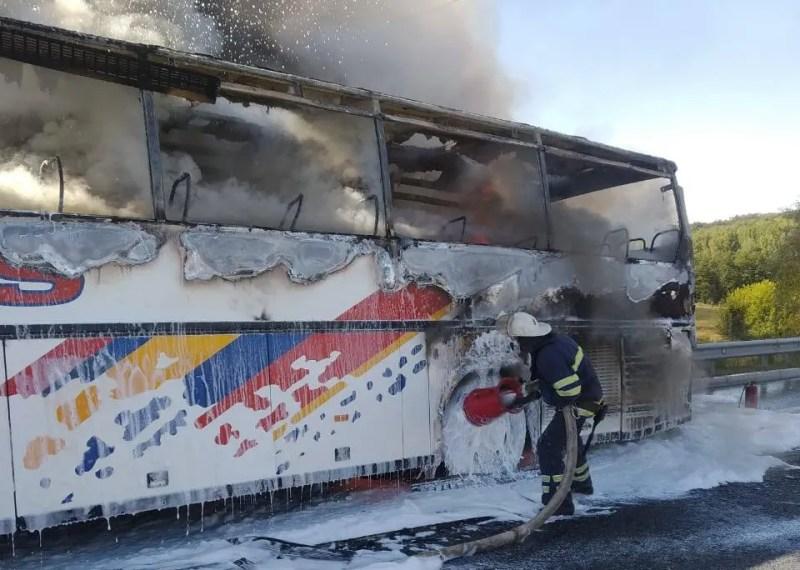 На момент загоряння в автобусі було 20 пасажирів.