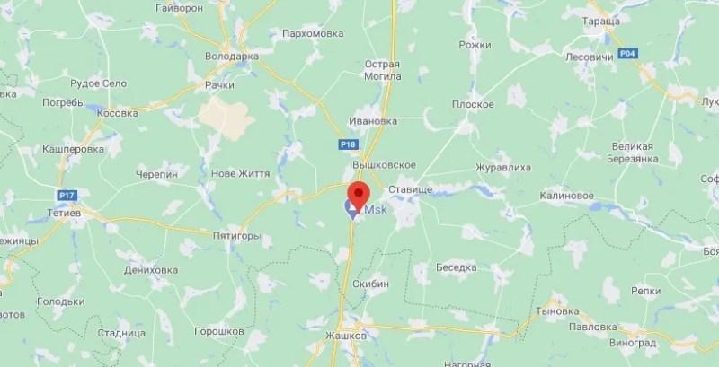 Біля села Сніжки Київської області загорівся автобус.