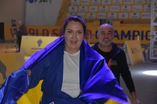Українська спортсменка  виграла золото чемпіонату світу з самбо