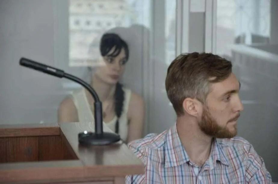 Христина Антонова на засіданні суду.