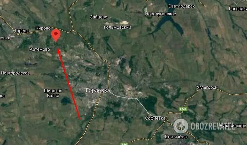 Поселок Шумы в Донецкой области.