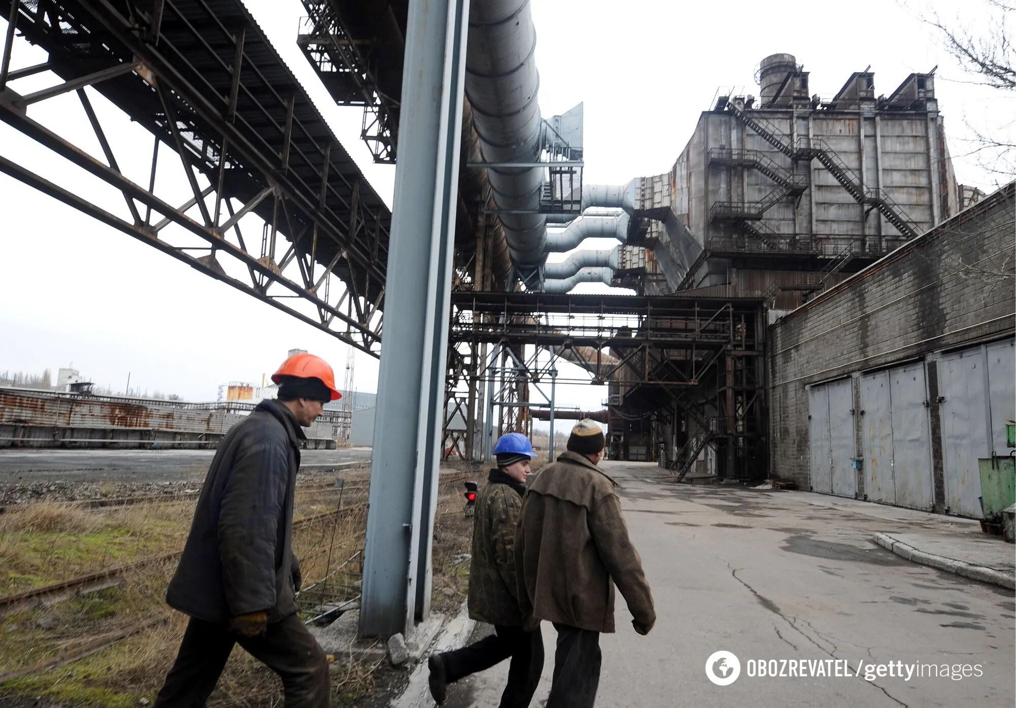 Донецкий металлургический завод, февраль 2017 года.
