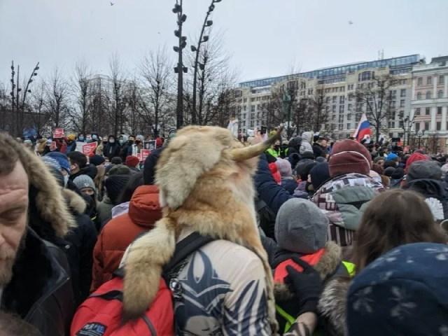 Митинг на Пушкинской площади в Москве