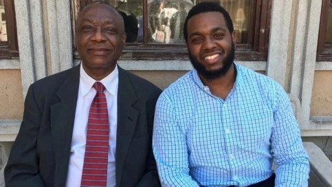 Pride as dad, 63, and son, 27, graduate from the same university together