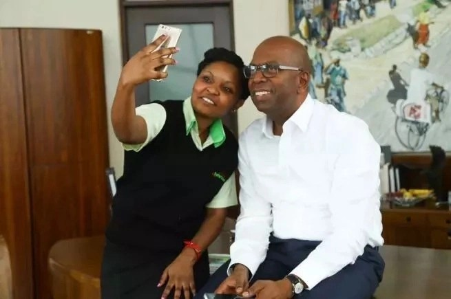 Pauline and Bob Collymore