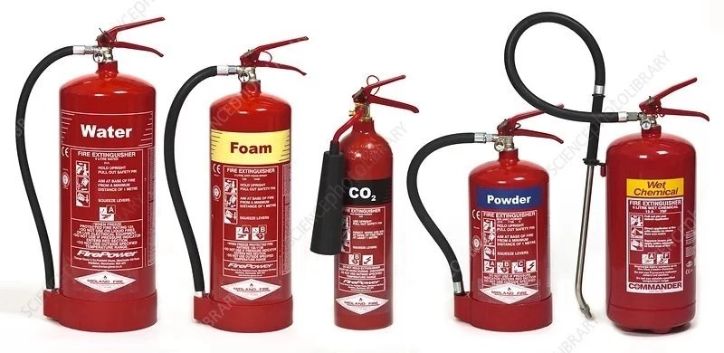 6 Major types of fire extinguishers and their purposes