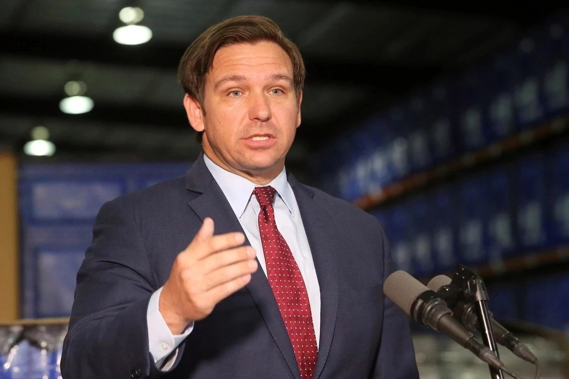 COVID-19 in Florida - Gov. Ron DeSantis ordered's the restrictions of movement for the next 30 days