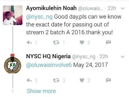 smngoz3qt4t9u0u3m.6f8fb4ab - Breaking News! NYSC 2016 Batch A Steam II Passing Out date Announced!
