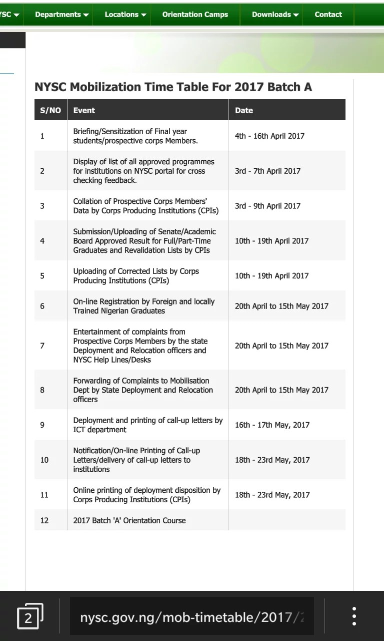 smngoz6rbemd8jv8u.f9305e6c - NYSC Mobilization Time Table For 2017 Batch A Changed !! (See latest One)