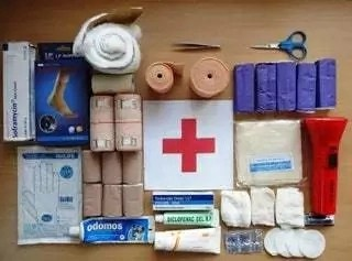 First aid and essential contents of a first aid box with their uses