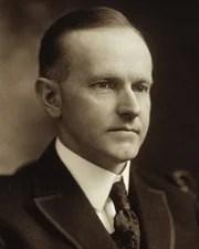 30th US President Calvin Coolidge