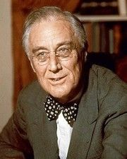 32nd US President Franklin D. Roosevelt