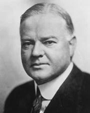 31st US President Herbert Hoover