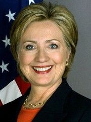 US First Lady and Politician Hillary Clinton