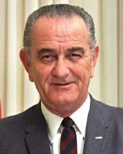 36th US President Lyndon B. Johnson
