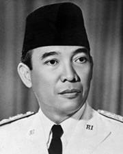 1st President of Indonesia Sukarno