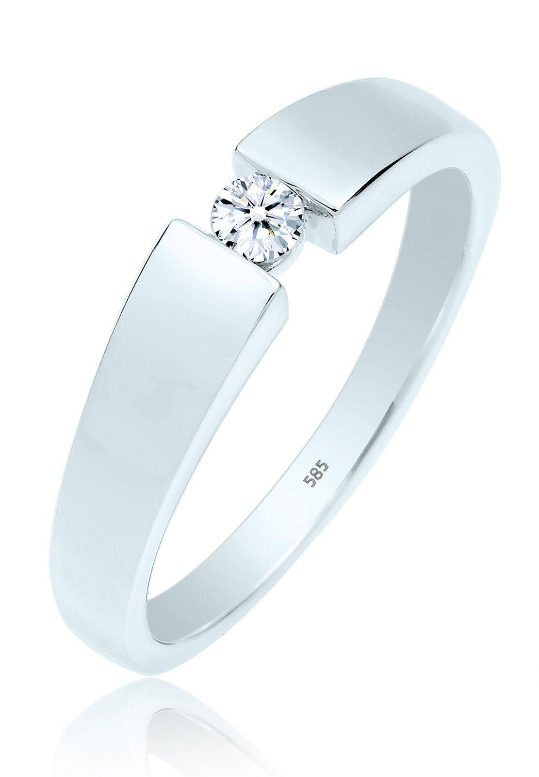 Diamore Ring Verlobung Diamant 010 ct 585 Weigold
