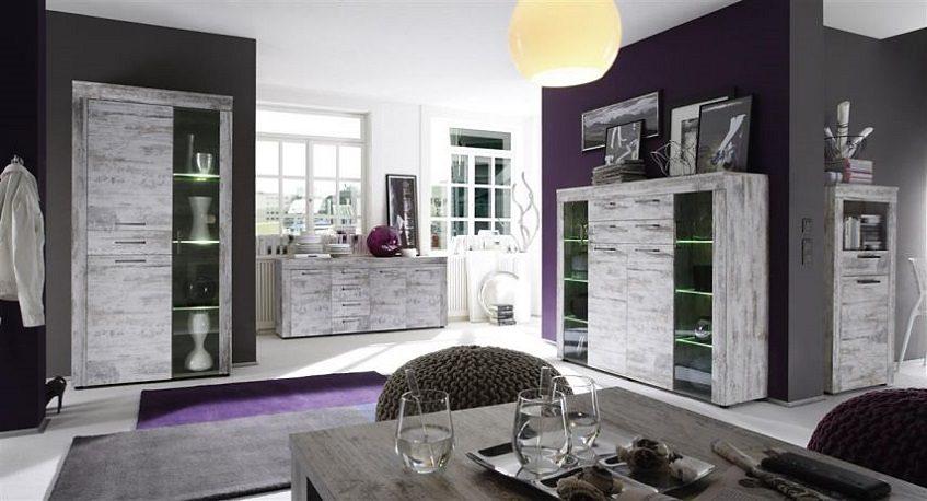 Kasper-Wohndesign Sideboard Pinie Weiss »KANADA«