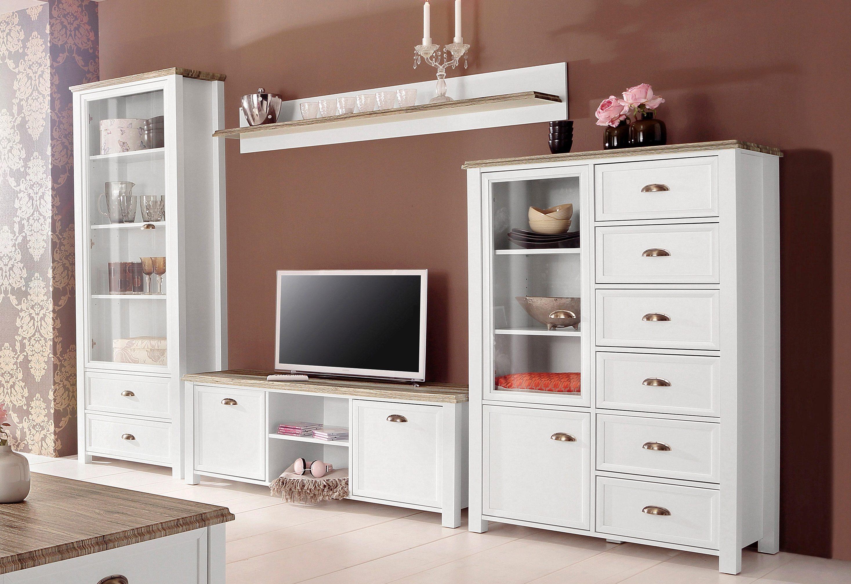 Wohnwand, Home affaire, »Chateau« 4 tlg., FSC® zertifizierter Holzwerkstoff online kaufen   OTTO