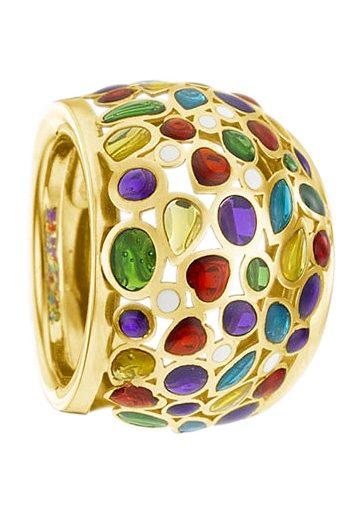 firetti Ring im Verlauf Kombination aus Gold und Bunt