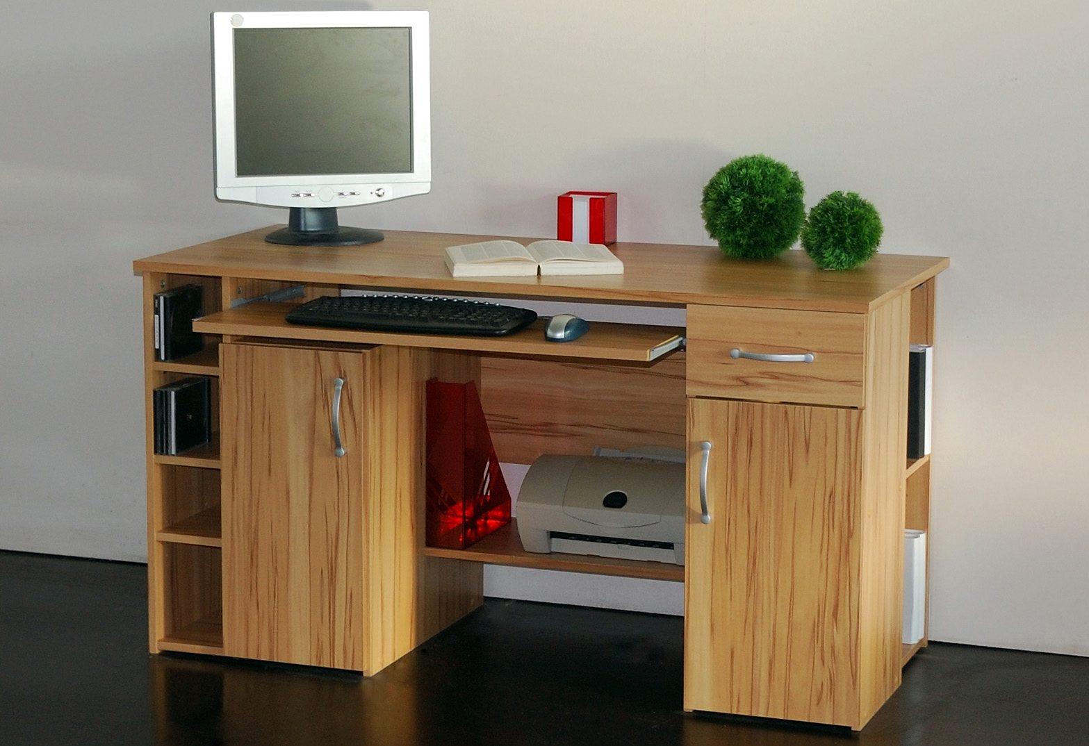 Schreibtisch »Tim«, mit 5 Fächern und Tastaturauszug ...