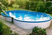 Einbaupool Oval. pool schwimmbecken premium oval set mit ...