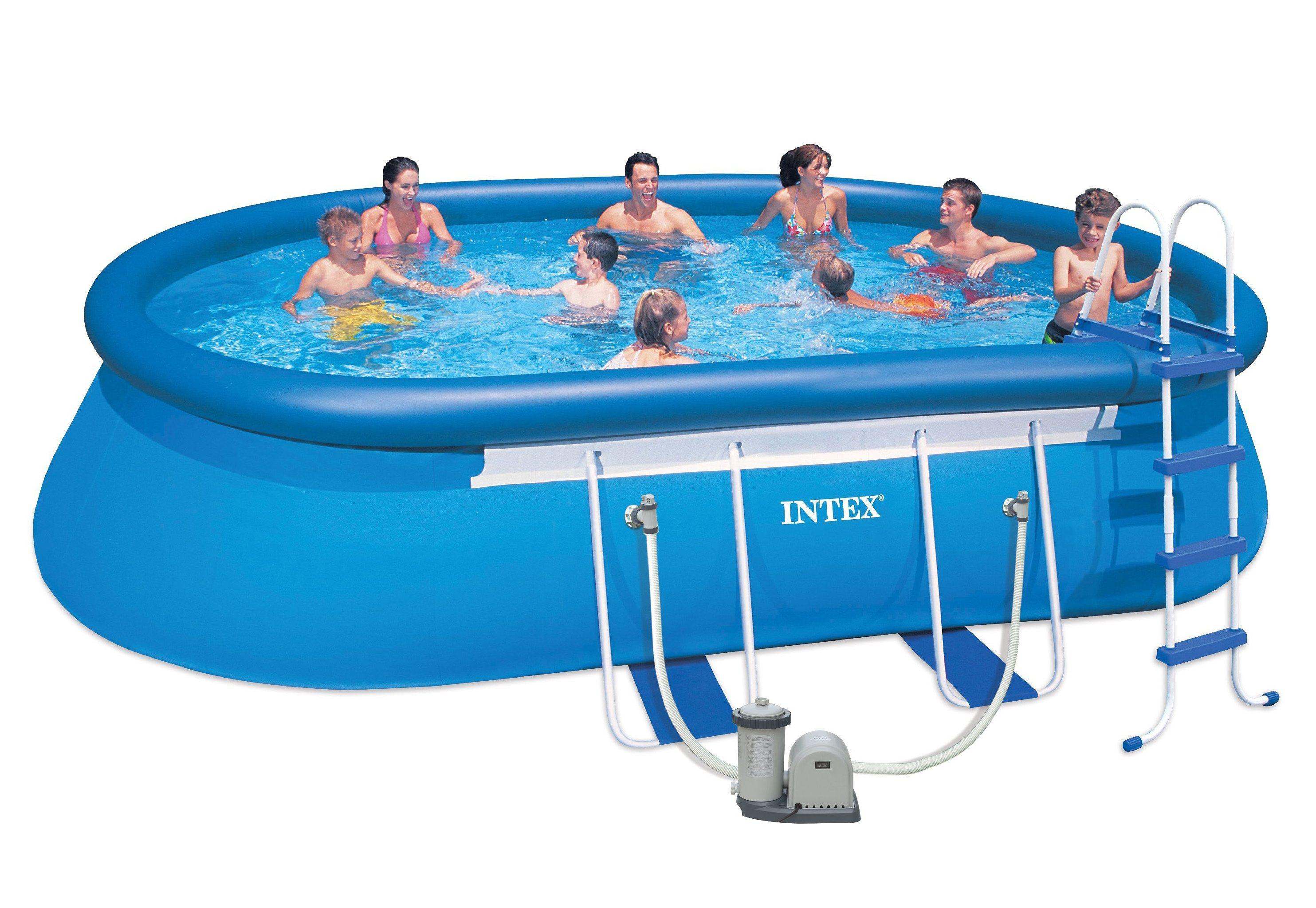 PoolSet Oval Frame Pool SetKomplettset Intex  OTTO