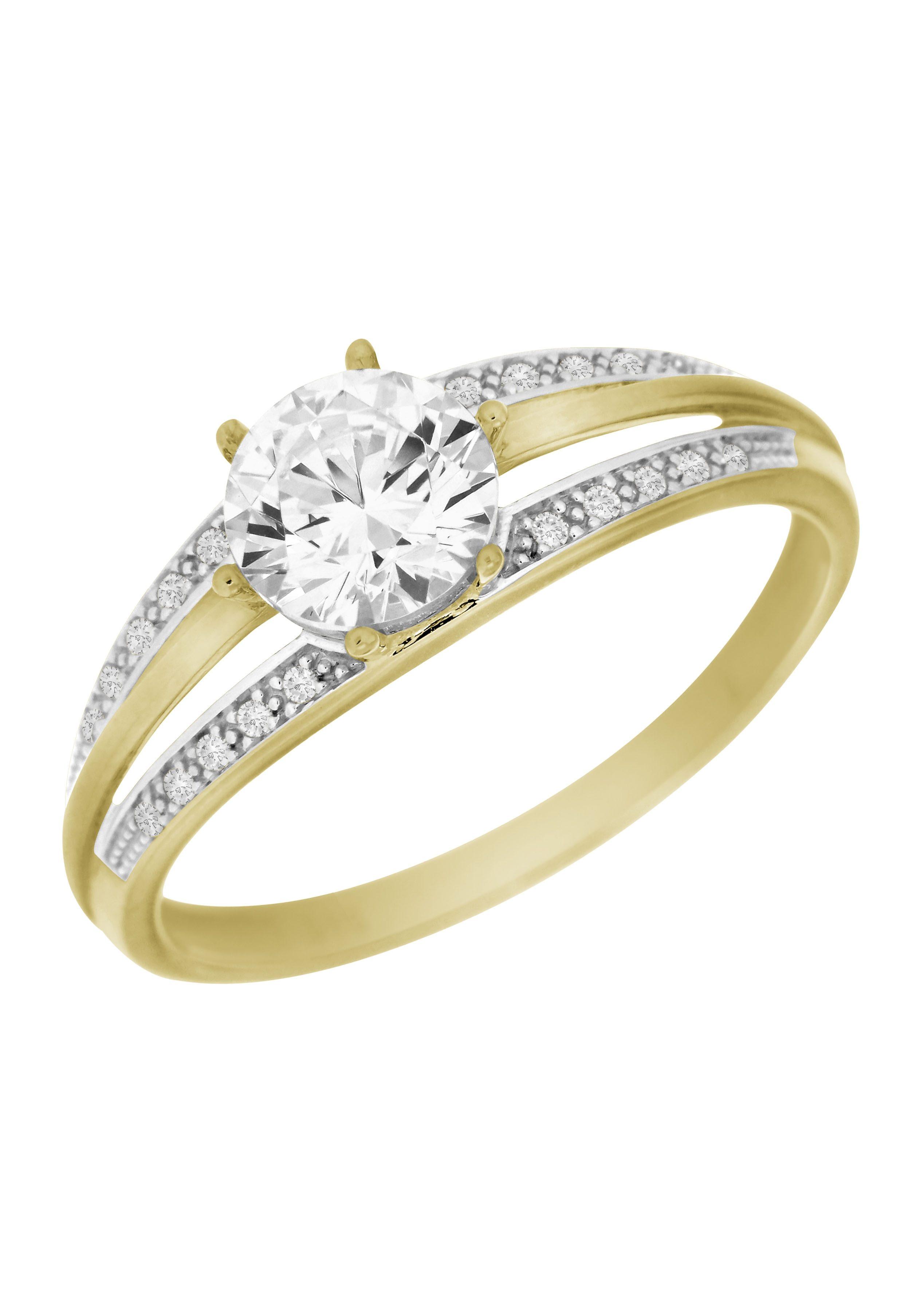 Goldene Ringe Mit Rubin