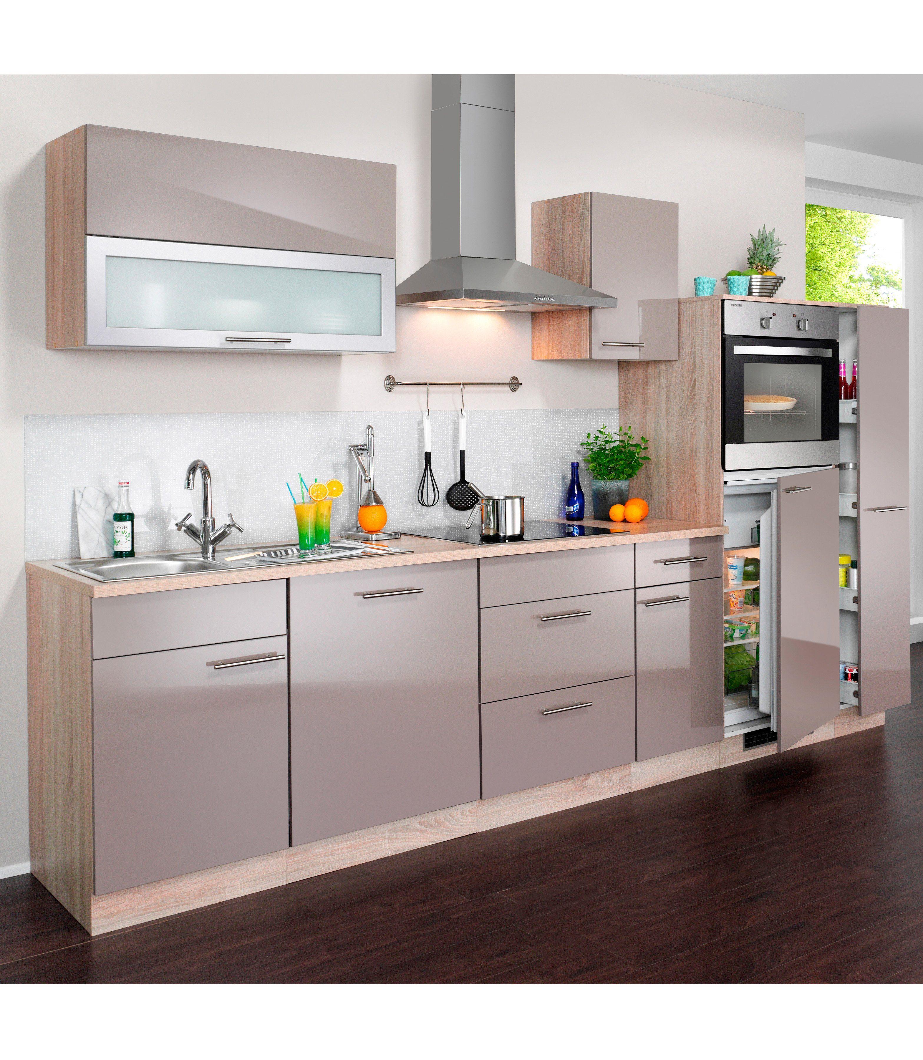 Wiho Küchen Küchenzeile mit E Geräten »Montana Glanz ...