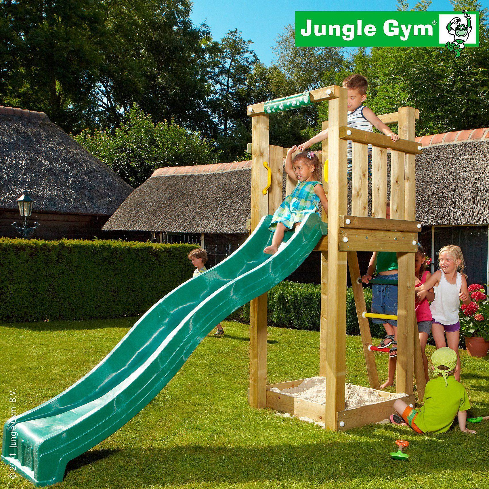 Jungle Gym Spielturm Tower, Rutsche grün kaufen   OTTO