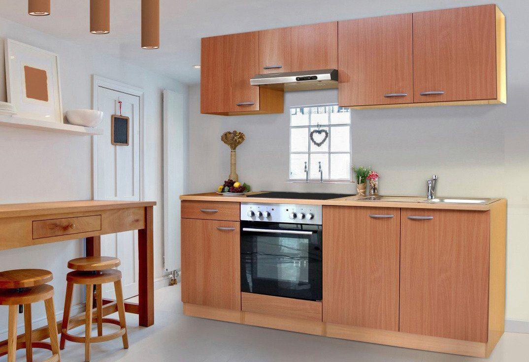 Respekta Küchenzeile mit Glaskeramik Kochfeld »Basic ...