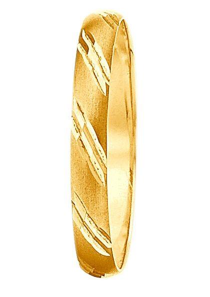 Firetti Trauring mit Gravur matt mit quer liegenden Fugen im Diamantschnitt online kaufen  OTTO