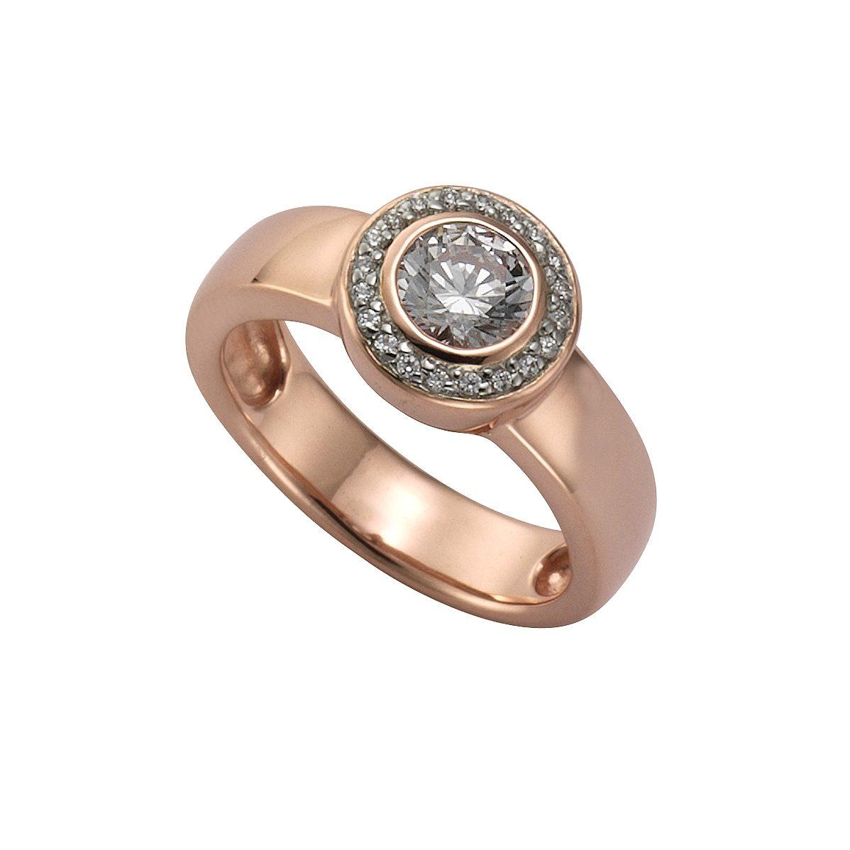 CELESTA Ring 925 Sterling Silber rotvergoldet  OTTO