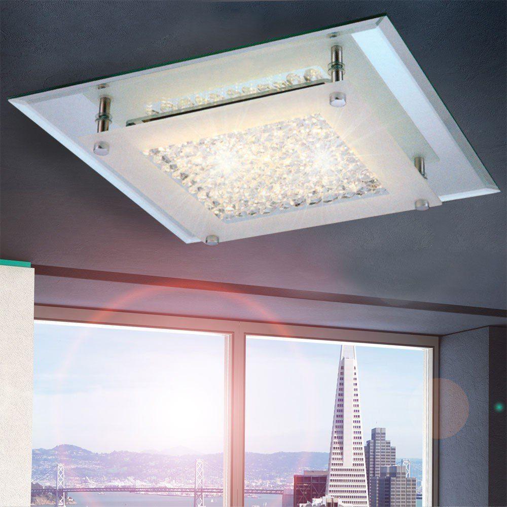 LichtTrend Kristalllampe Flowy LEDDeckenleuchte mit