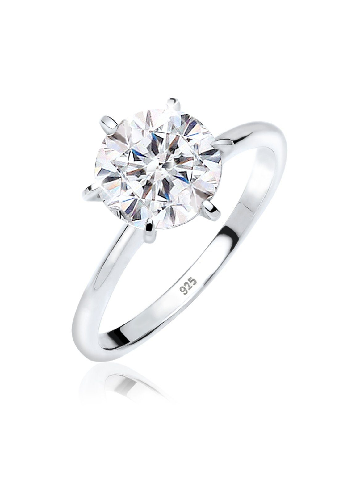 Elli Ring Verlobungsring Swarovski Kristalle 925 Silber