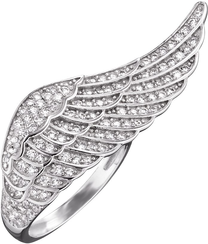 Engelsrufer Silberring Where the angels fly RING FLGEL SILBER CRYSTAL ERRWING01ZI mit