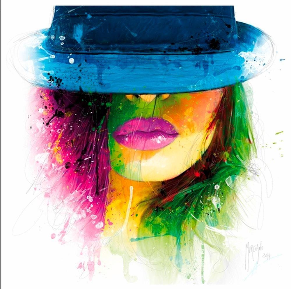 Home affaire Deco Panel Frauenkopf mit Hut 7070 cm online kaufen  OTTO