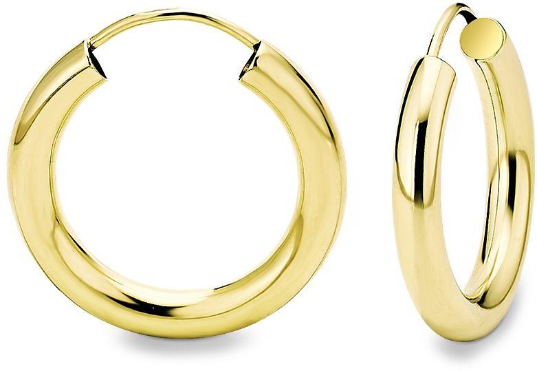 Amor Paar Creolen Aus glnzendem Gelbgold 333 online
